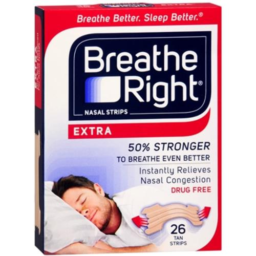 Breathe Right Nasal Strips Extra 26 Each (Pack of 3)