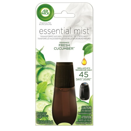 Love Fragrance Diffuser ((2 pack) Air Wick Essential Mist Fragrance Oil Diffuser Refill, Fresh Cucumber, Air)