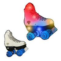 Roller Skate Flashing Body Light Lapel Pins