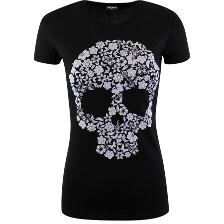 Womens Sugar Skull Flowers Shirt Rockabilly Day of the Dead - Day Of The Dead Dresses