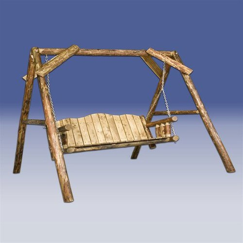 Montana Woodworks MWGCLS Glacier Country A-Frame Lawn Swing