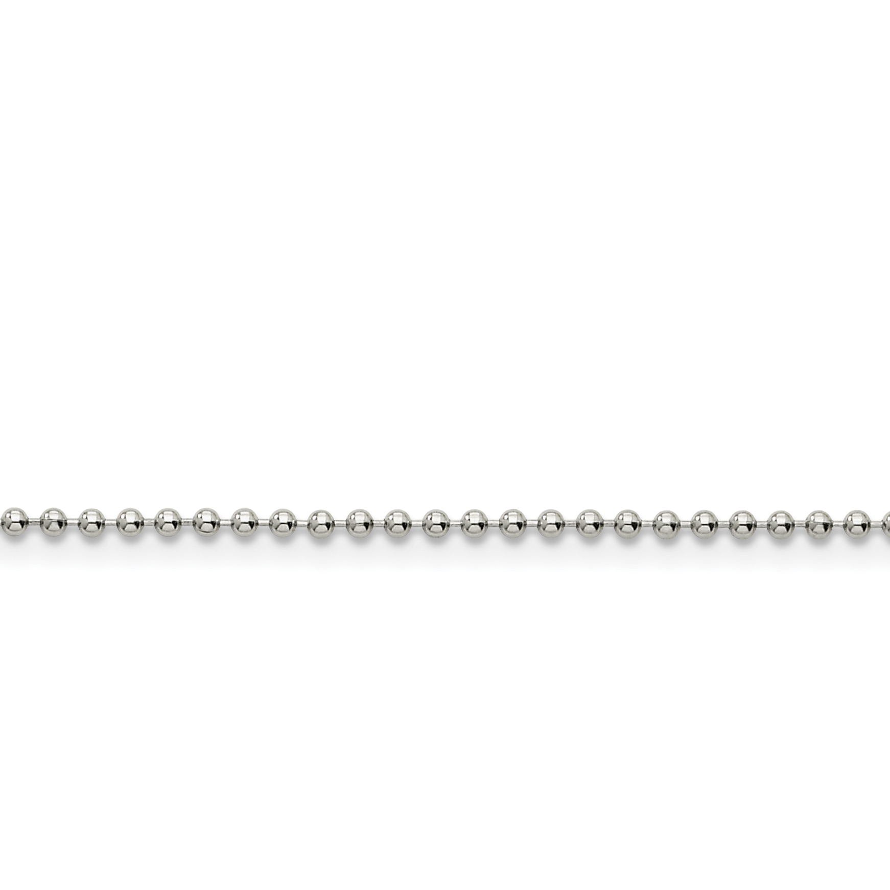 Stainless Steel 2mm 18 Inch Ball Chain Necklace Pendant Charm Beadsed Fashion Jewelry Gifts For Women For Her - image 3 de 3