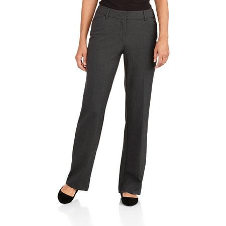 George Women S Petite Modern Career Pants Walmart Com