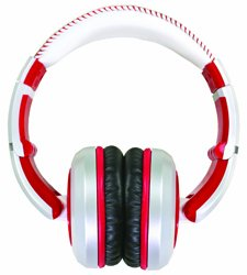 The Sessions Professional Closed-Back Studio Headphones by CAD Audio - White with Red