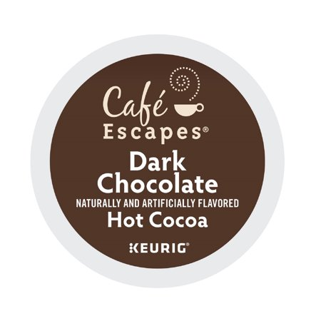 Café Escapes Dark Chocolate Keurig K-Cup Hot Cocoa Pods, 24 (Cocoa Extra Dark Chocolate)
