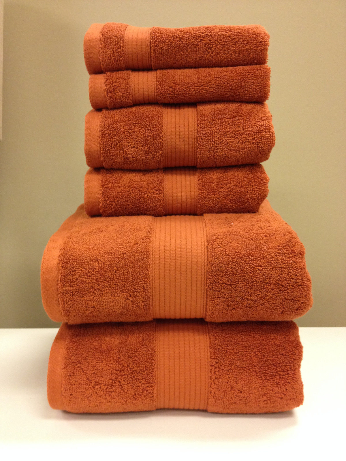 Plush 100-Percent Cotton 6-Piece Towel Set Ultra Soft and Super Absorbent by Royal Plaza Textiles, Inc.