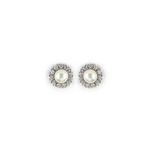 Plutus Partners Flower Gemstone Stud Earrings
