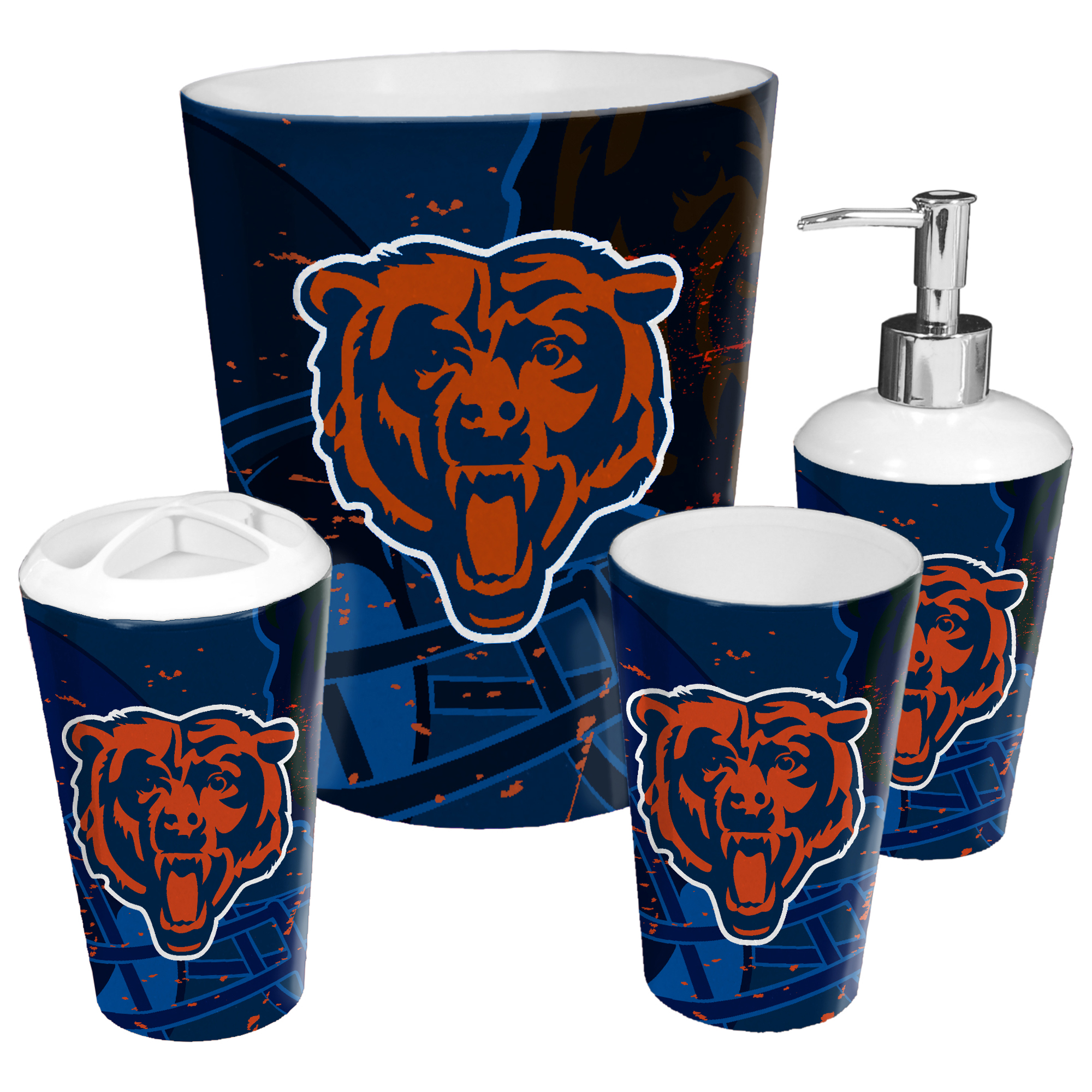 Chicago Bears The Northwest Company 4-Piece Bath Set - No Size