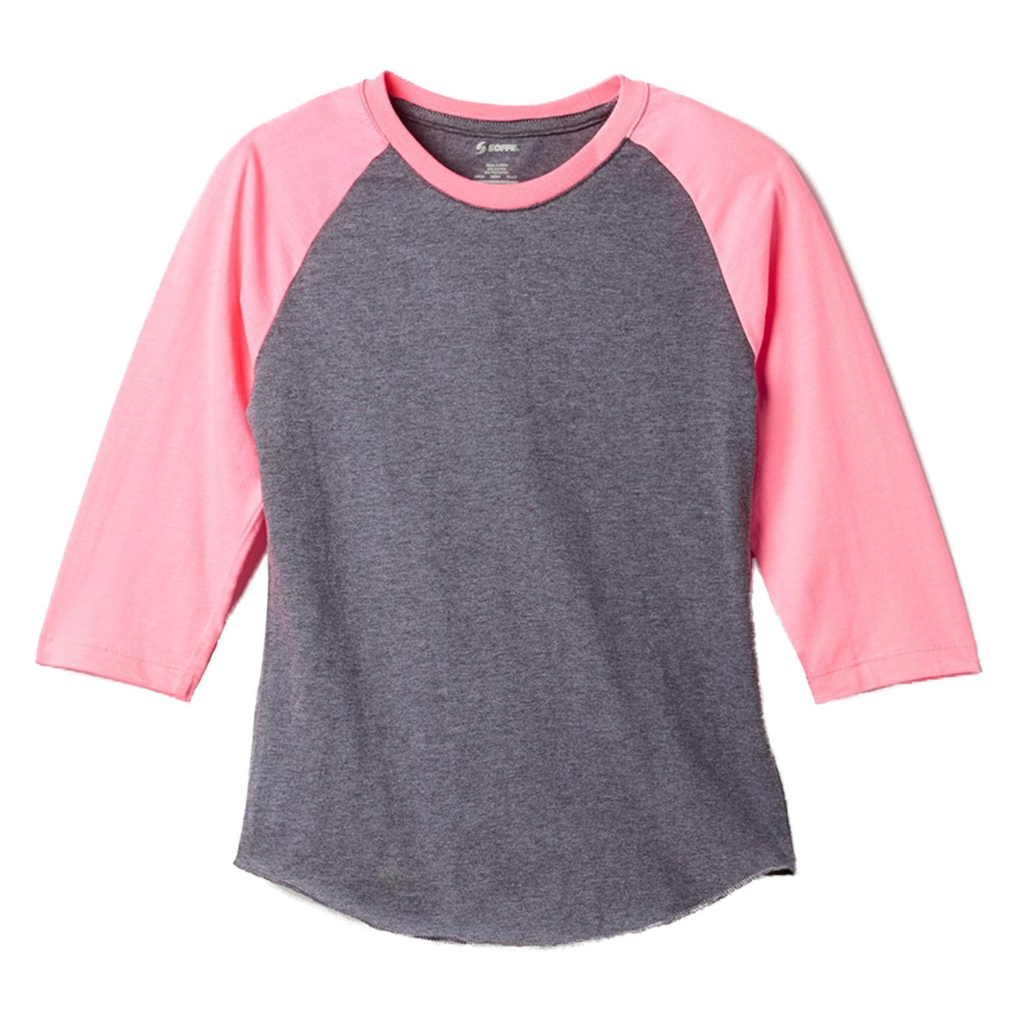 Soffe Women's Heathered Baseball T-Shirt