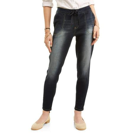 Wallflower Juniors' Tie Waist Ankle Jeans (Tied Jeans)