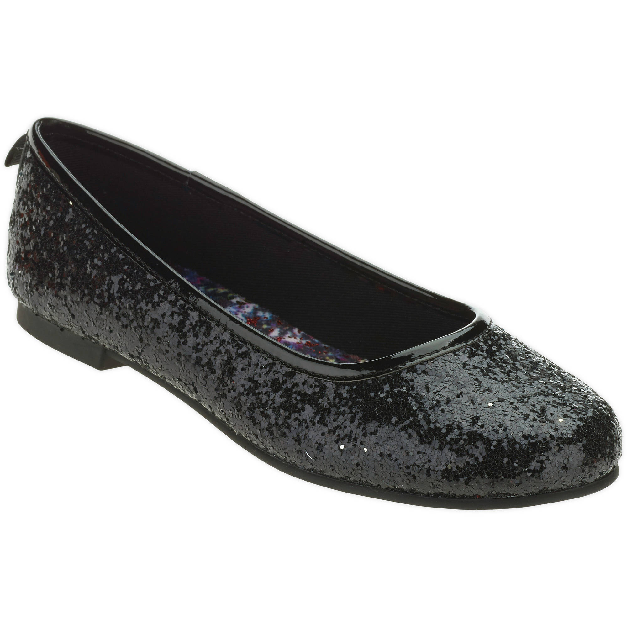 Faded Glory Girls' Dazzle Ballet Flat Casual Shoe