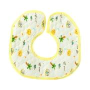 Saliva Towel 360 Degree Rotation Pure Cotton 3-Layer Waterproof Octagonal Bib For Babies