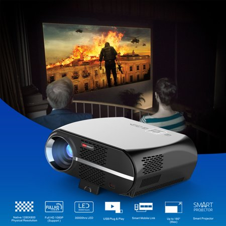 Android 4K 3D WiFi Home Cinema LED LCD HD 1080P Theater Projector HDMI