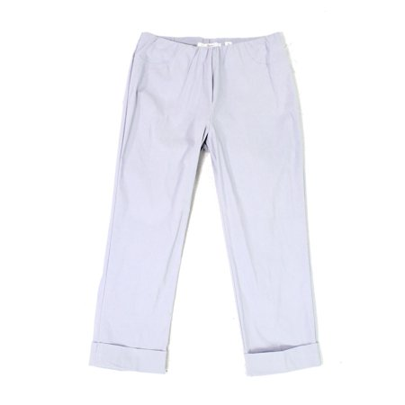 Illusion Cloud Womens Cuffed Pull On Cropped Pants