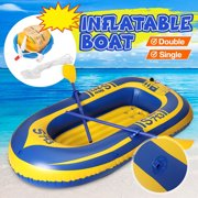 1/2 Person PVC Inflatable Boat Fishing Drifting Kayak Beach Swimming Pool Drift Boat Outdoor Sports