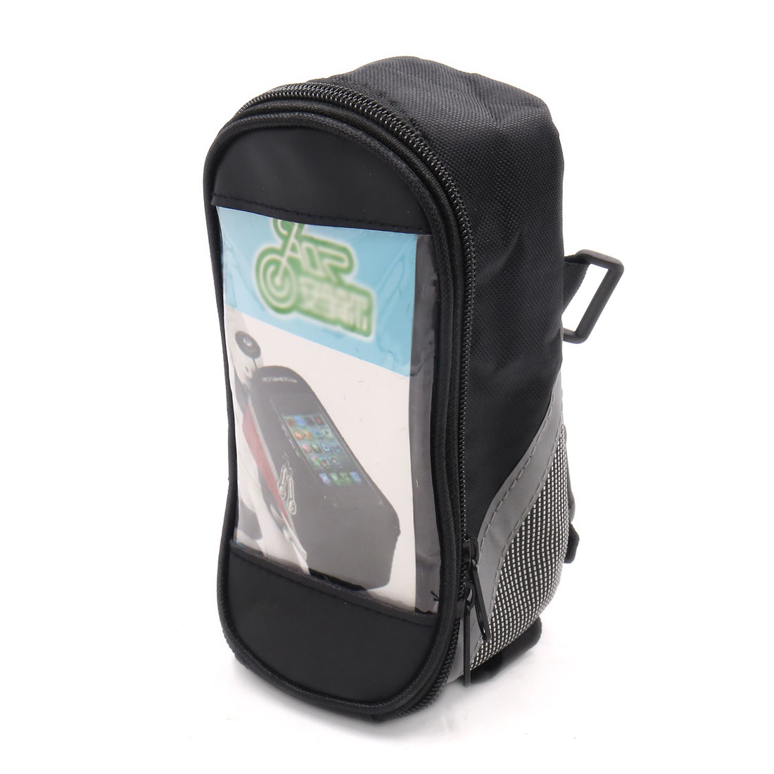 Black Gray Waterproof Touch Screen Mountain Bike Bicycle Front Tube Bag Pouch