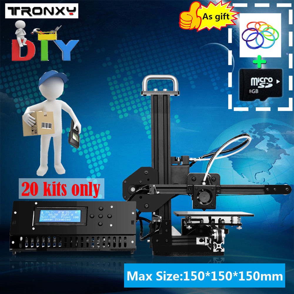 Tronxy X1 3D Printer DIY Upgradest High Precision Reprap Prusa 3d
