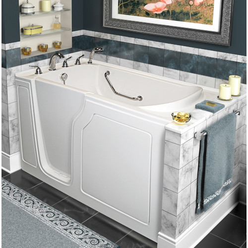 A+ Walk-In Tubs Dignity 48'' x 28'' Whirlpool and Air Jetted Walk-In Bathtub