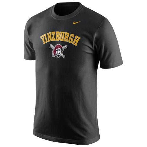 Pittsburgh Pirates Nike Yinzburgh Local Phrase T-Shirt - Black