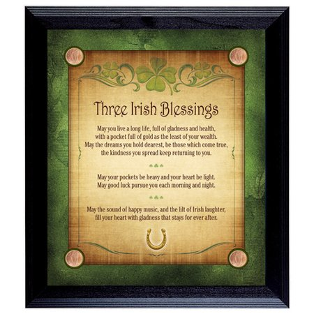 Irish Baby Blessing (American Coin Treasures Three Irish Blessings with 4 Lucky Irish Pennies Framed)