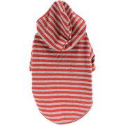 Stellar Pet Boutique Red Striped Hoodie-Extra Small
