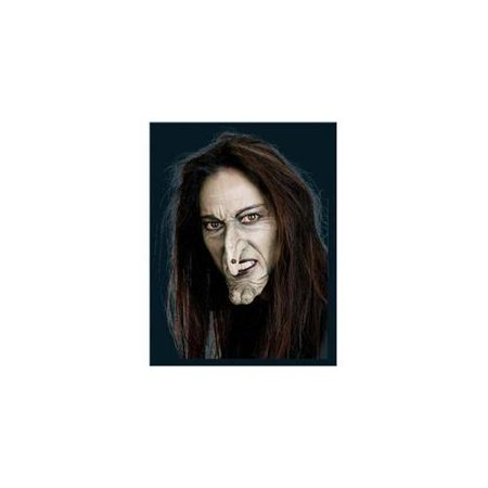 Witch Face with Nose and Chin Prosthetic Adult Halloween Accessory](Face Paint For Halloween Witch)