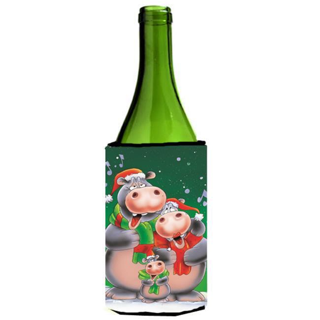 Hippo Family Caroling Wine Bottle Can cooler Hugger