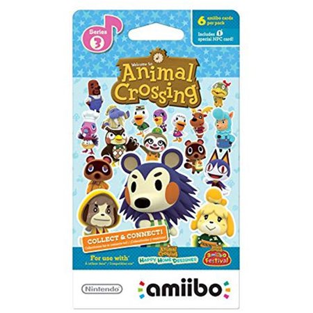 Pack Single Card - Animal Crossing Collect & Connect Series 3, Single Pack of 6 Cards by Nintendo