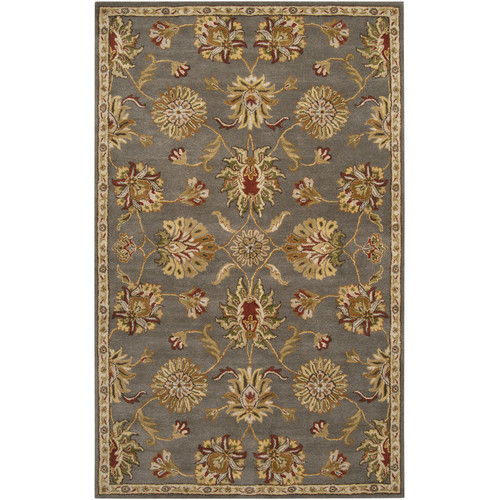 Charlton Home Queenswood Gray/Gold Rug