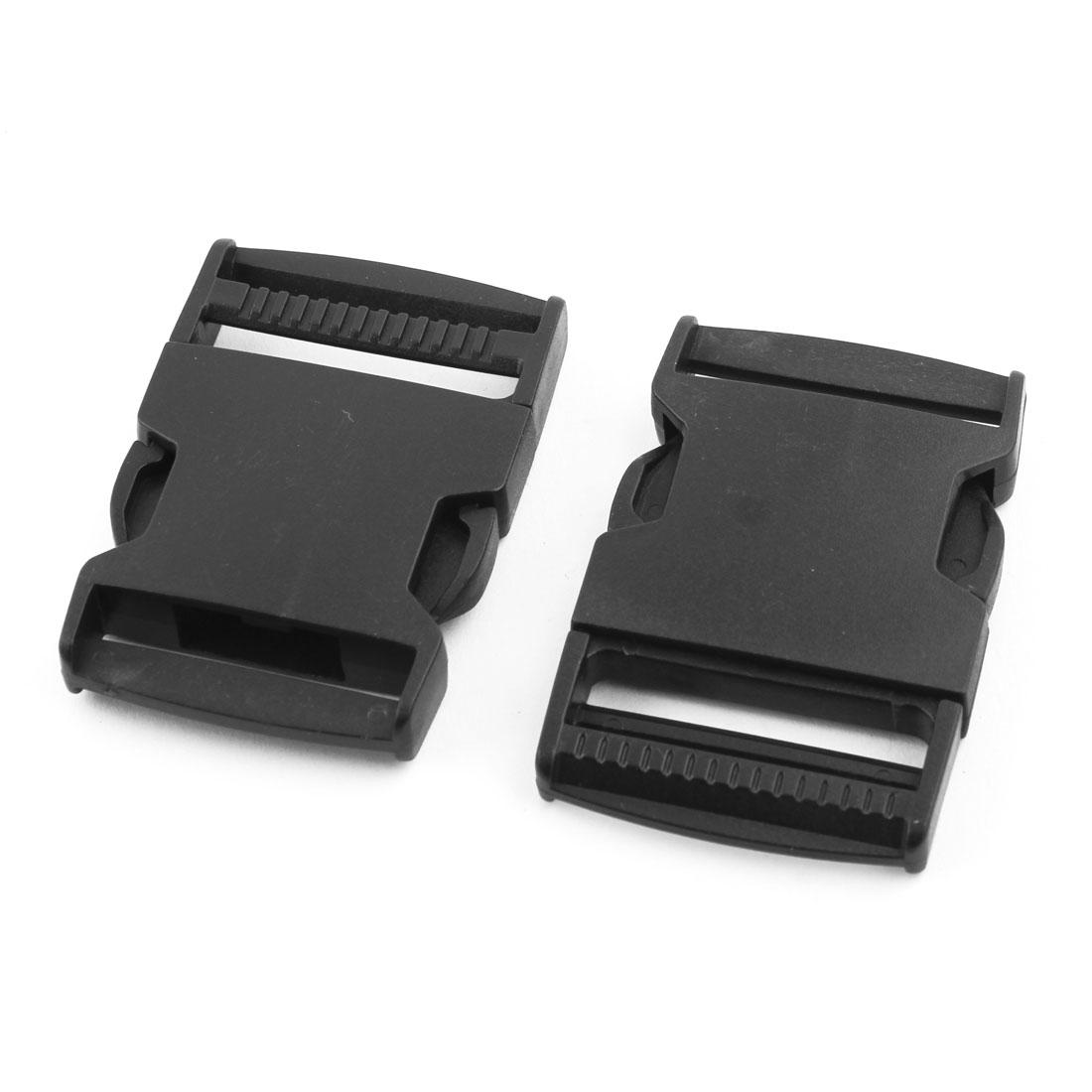 Belt Strap Plastic Flat Side Release Buckle Black 1.5 Inches Inside Width - image 1 of 3