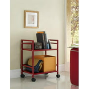 Marshall 2-Shelf Metal Rolling Utility Cart-Finish:Red
