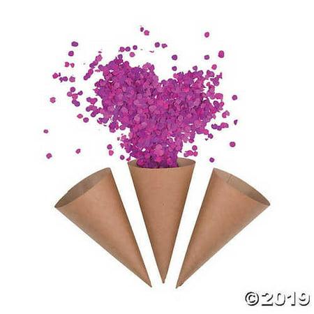 Kraft Paper Confetti Cones](Confetti Cones)