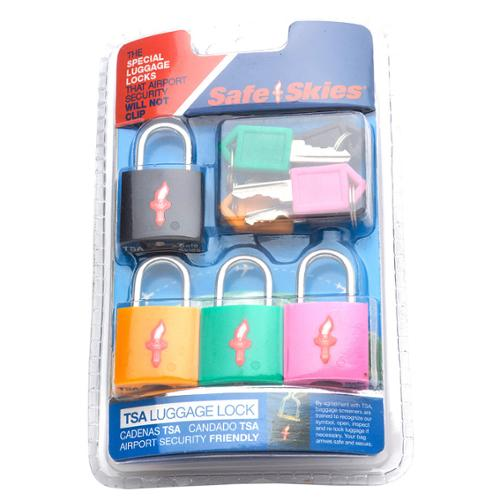 Safe Skies  TSA-Recognized Padlocks (Set of 4)