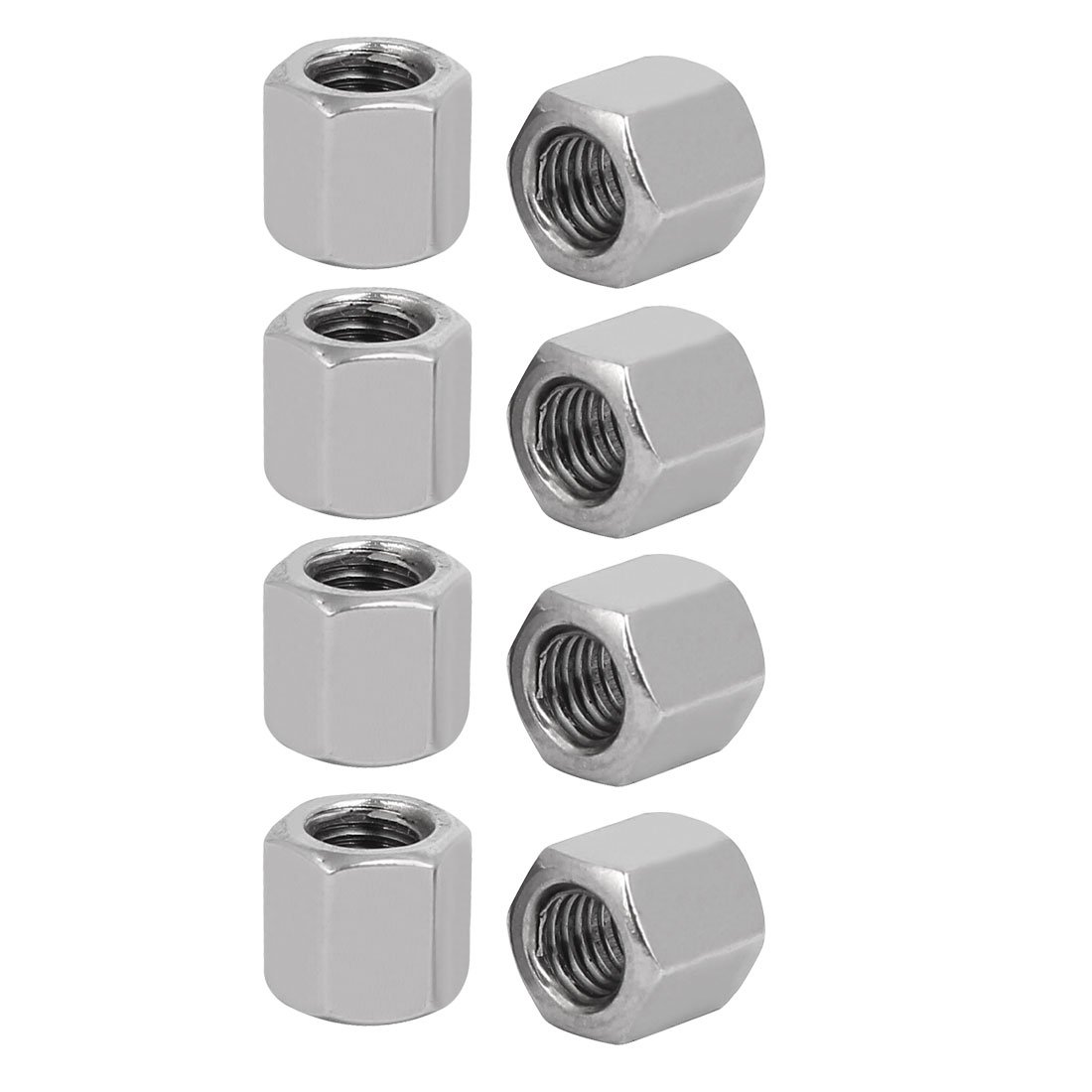 M5x8mmx8mm Female Thread Straight Hex Rod Coupling Connector Nuts 8pcs - image 1 of 1