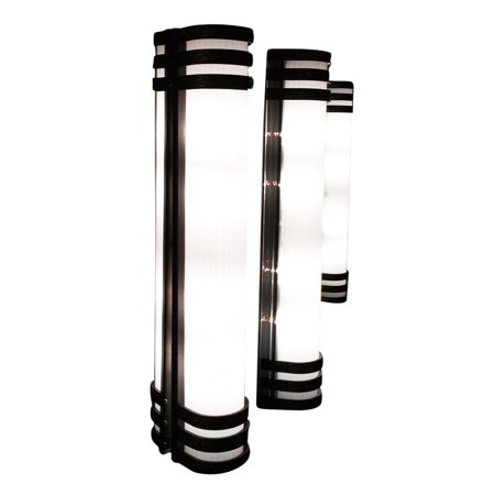 Scott Lamp 3704-38-Orb-2 Oil Rubbed Bronze Wall Sconce Ribbed Acrylic Lens Light Fixture