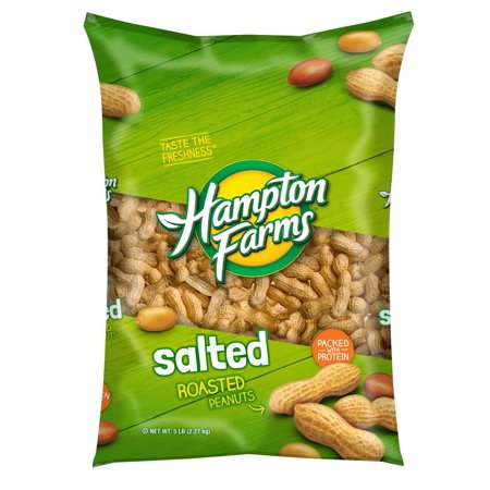 Product of Hampton Farms Salted Roasted In-Shell Peanuts, 5 lbs. [Biz (Best Peanuts In The Shell)