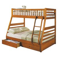 ACME Jason Twin over Full Bunk Bed with 2 Drawer, Multiple Colors
