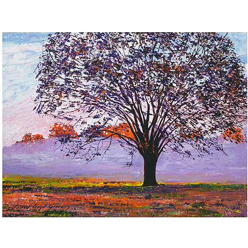 "Trademark Art ""Majestic Tree in Morning Mist"" Canvas Wall Art by David Lloyd Glover"
