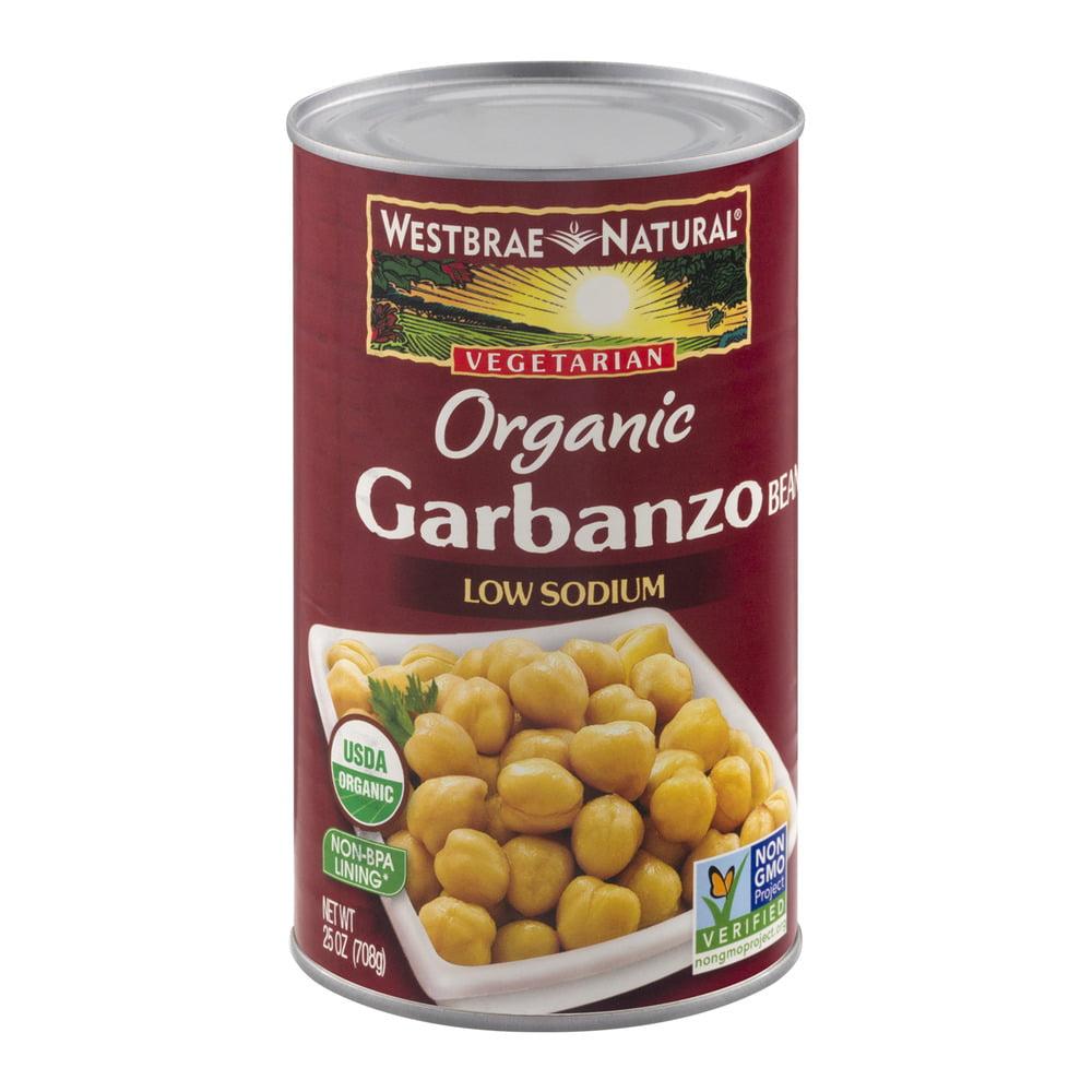 Westbrae Natural Vegetarian Organic Garbanzo Beans Low Sodium, 25.0 OZ