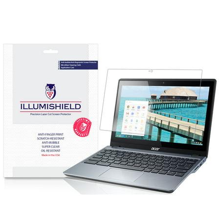 iLLumiShield Screen Protector Anti-Bubble/Print 2x for Acer Chromebook 11  C720P