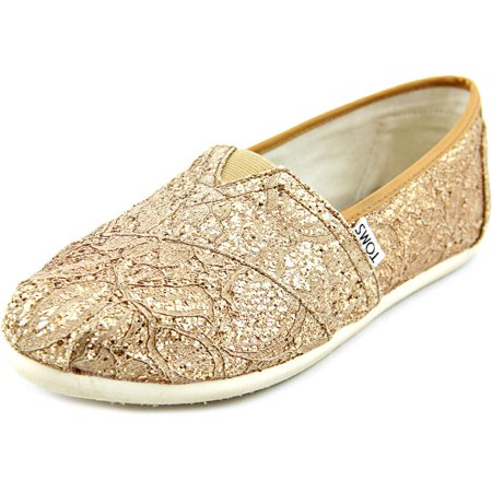 5831bc1f7f4 TOMS - Toms Women s Classic Floral Lace Rose Gold Lace Glitz Ankle-High  Canvas Flat Shoe - 9M - Walmart.com