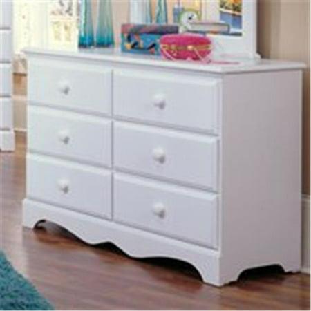 Carolina Furniture 415600 Cottage Double Dresser Furniture In White California Cottage Furniture