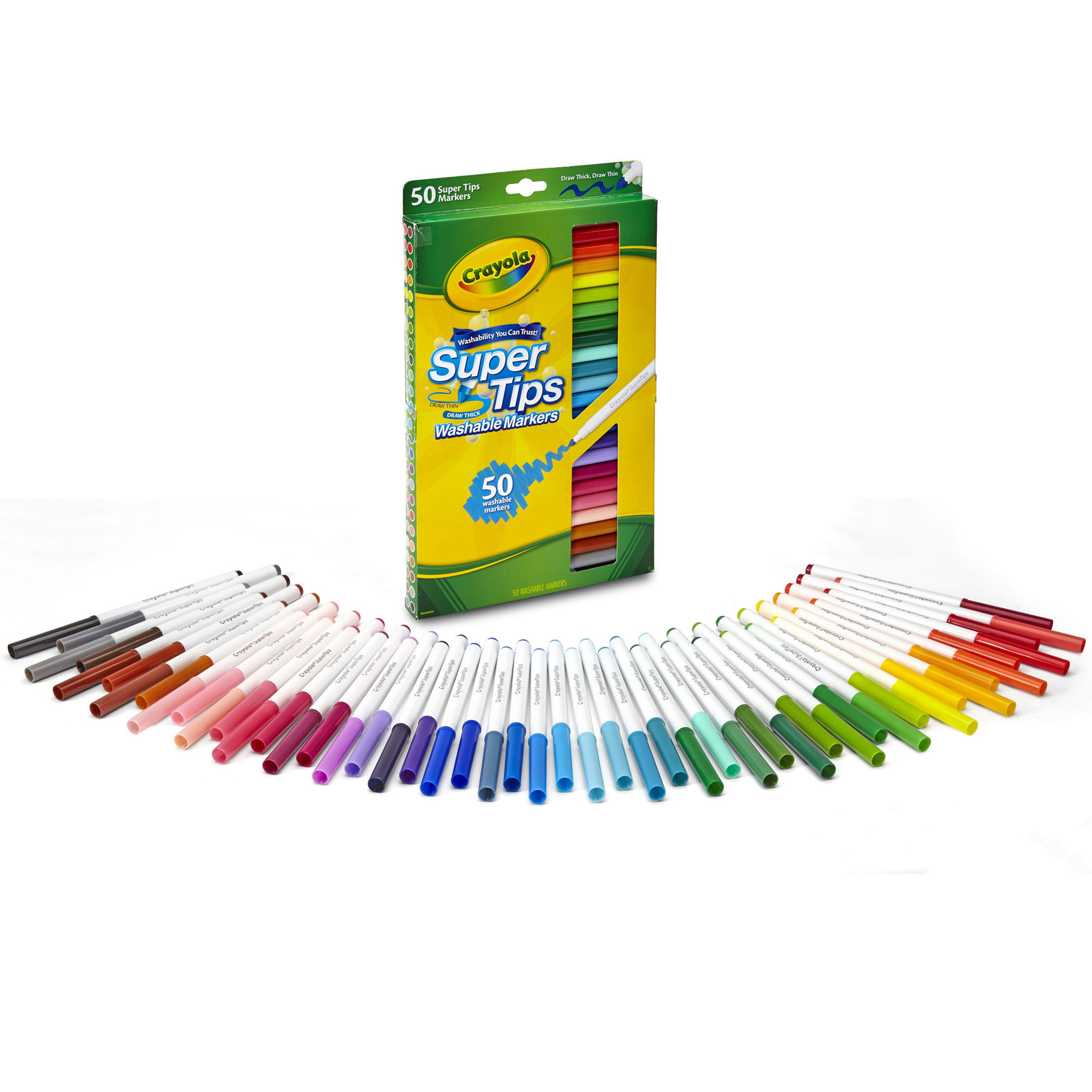 Crayola Super Tips Washable Markers, 15 Count