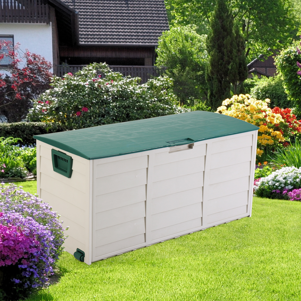 Product Image Deck Storage Box Outdoor Patio Garage Shed Backyard Garden  Tool Box Container