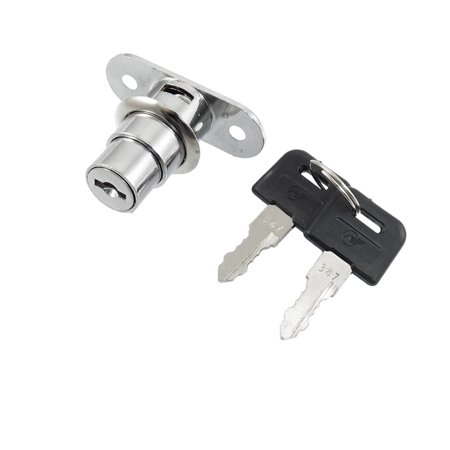 Home Office Door Showcase Cylinder Plunger Lock w 2 Keys