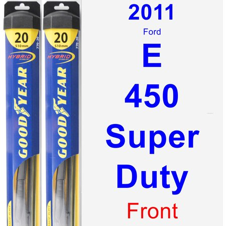 2011 Ford E-450 Super Duty Wiper Blade Set/Kit (Front) (2 Blades) - Hybrid (Duty Wiper Blade)