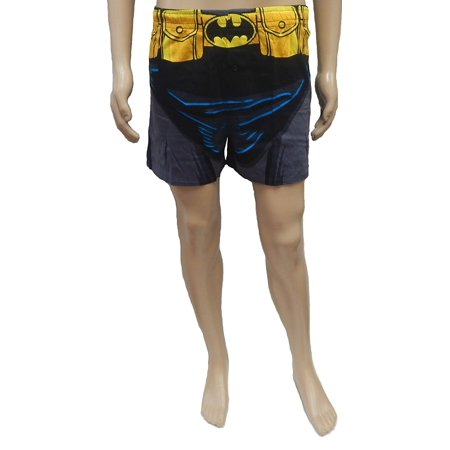TM & DC COMICS Batman Boxer, Superman Boxer DC Comics Superhero Knit Boxer Shorts (Small, Batman (Ladies Boxer Shorts)