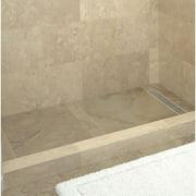 "Tile Redi RT4248R-PVC-SQ Redi Trench 42"" X 48"" Rectangular Shower Base"