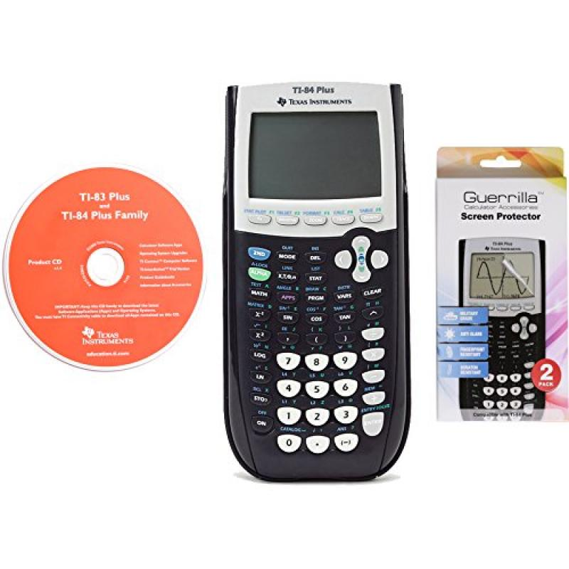 Texas Instruments TI 84 Plus Graphing Calculator With Gue...