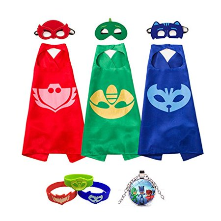 Fancy Dress Superhero Costume With Capes Masks Bracelets and Necklace For Kids - Tiger Fancy Dress Costume